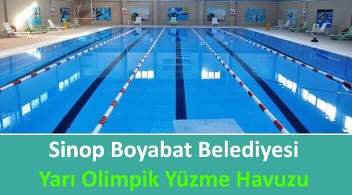 Sinop Boyabat Belediyesi Yarı Olimpik Kapalı Yüzme Havuzu