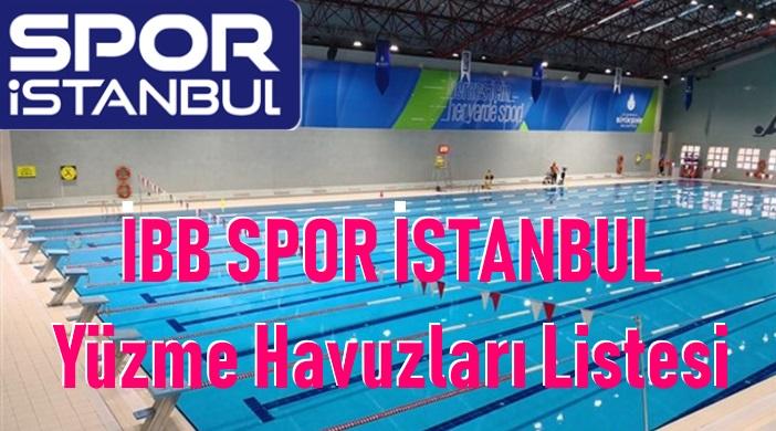 İBB SPOR AŞ Yüzme Havuzları Listesi