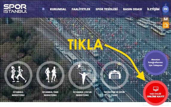 SPOR İstanbul Yeni Üyelik Online Kayıt Sayfası