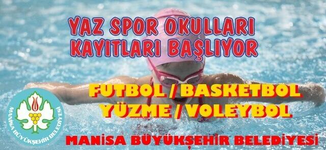 Manisa Büyükşehir Belediyesi 2018 Yaz Spor Okulları