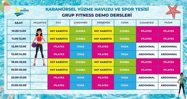 Karamürsel Yüzme Havuzu ve Spor Kompleksi Grup Fitness Demo Seansları