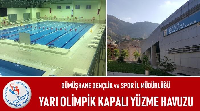 Gümüşhane GSHİM Yarı Olimpik Kapalı Yüzme Havuzu