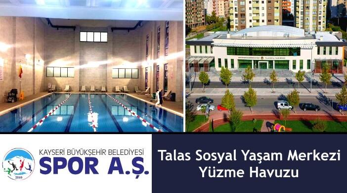 Kayseri Büyükşehir Belediyesi Talas Sosyal Yaşam Merkezi Yüzme Havuzu
