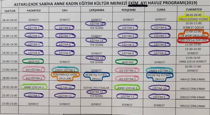 Çankırı Belediyesi Astarlızade Sabiha Anne Kadın Eğitim Kültür Merkezi Yüzme Havuzu Seansları - Çalışma Gün ve Saatleri